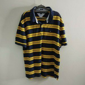 Tommy Hilfiger Classic Fit Striped Polo Shirt Top